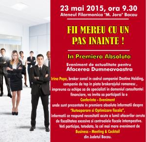 Eveniment, 23 mai 2015, Bacau