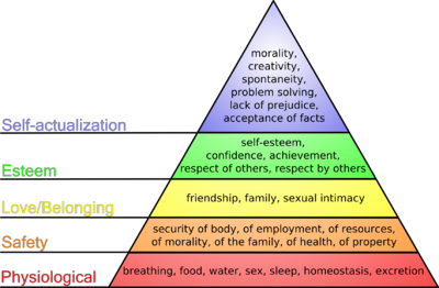 Piramida lui Maslow Foto: wikipedia.org